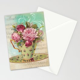 Tea flowers #6 Stationery Cards