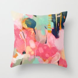 spring moon earth garden Throw Pillow