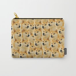 shibe doge fun and funny meme adorable Carry-All Pouch