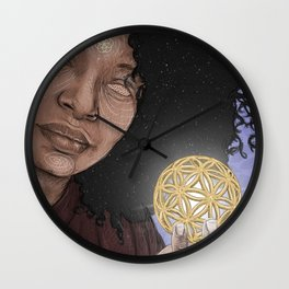 Flower of Life. Wall Clock