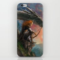 guardians iPhone & iPod Skins featuring Guardians by Rita Fei