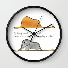 The Little Prince, a hat or a boa constrictor? Wall Clock