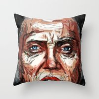 christopher walken Throw Pillows featuring Walken by Dnzsea