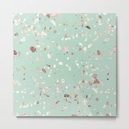 Minty Pink Metal Print