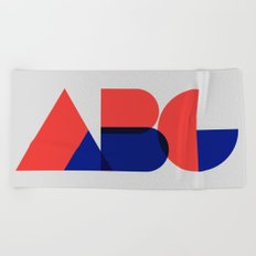 Geometric ABC Beach Towel