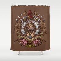 murray Shower Curtains featuring Murray crest by Rodrigo Ferreira