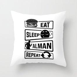 Eat Sleep Alman Repeat - German Cliche Throw Pillow