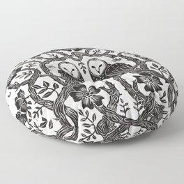 Rose Owls Floor Pillow