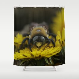 Winter Bee Shower Curtain