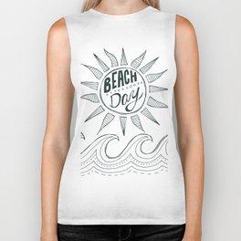 beach day Biker Tank