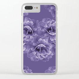 Ultra Violet Peony Flower Bouquet #1 #floral #decor #art #society6 Clear iPhone Case