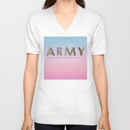BTS ARMY: We are bulletproof. Unisex V-Neck