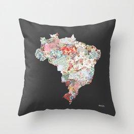 Brazil map #2 Throw Pillow