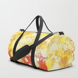 paint splatter on gradient pattern bli Duffle Bag