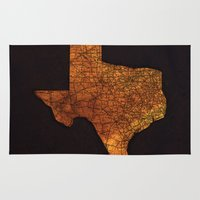 texas Area & Throw Rugs featuring Texas by Taylor Wilson Graphics