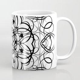 DEEP BLACK AND WHITE KALEIDOSCOPE Coffee Mug
