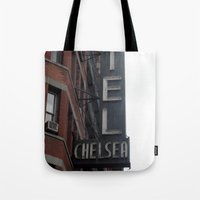 chelsea Tote Bags featuring Chelsea by Leah Moloney Photo