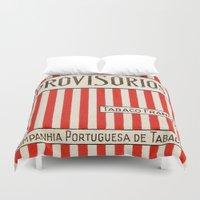 cigarette Duvet Covers featuring Provisorios - Vintage Cigarette by Fernando Vieira