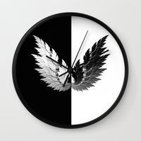 angel Wall Clocks featuring Angel by haroulita