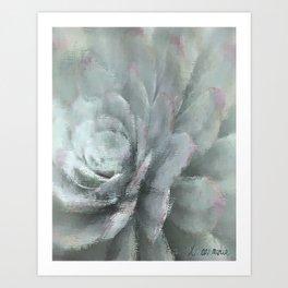 Gray Succulent Art Print
