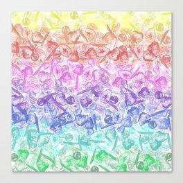 Crystal Gemstone Background Pattern - Geodes + Quartz Points Canvas Print