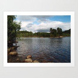 Loch Beinn a'Mheadhoin Art Print