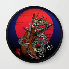 Dragon Contrabass Wall Clock