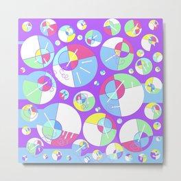 Bubble Purple Metal Print