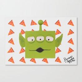 GREEN ALIEN BOXHEAD Canvas Print