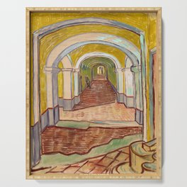 Corridor in the Asylum by Vincent Van Gogh Serving Tray