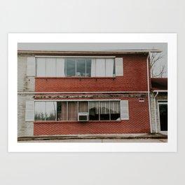 abandoned motel Art Print