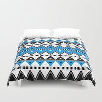 pacific rim Duvet Covers featuring Pacific by voop