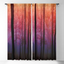 Whispering Woods, Colorful Landscape Art Blackout Curtain