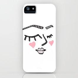 Heart Face iPhone Case