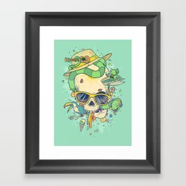 Summer Skullin' Framed Art Print