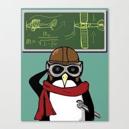 Little Penguin, Big Plans Canvas Print