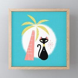 va-CAT-ions Framed Mini Art Print