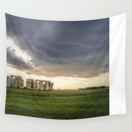 Sunset on Stonehenge Wall Tapestry