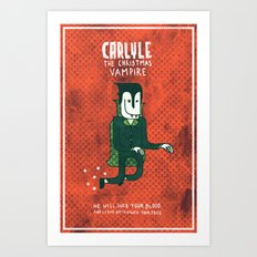 The Christmas Vampire Art Print