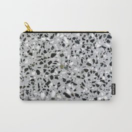 Concrete terrazzo marble texture speckle pattern gray Carry-All Pouch