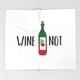 Wine not Throw Blanket