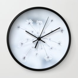 Beautiful Dry Flower with Ice Crystals #decor #buyart #society6 Wall Clock