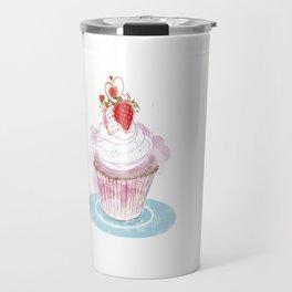 Strawberry Cupcake  Travel Mug