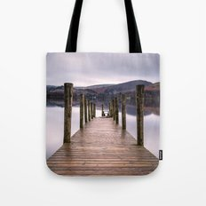 Lake View with Wooden Pier Tote Bag