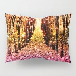 Magical Forest Sunset Pink Pillow Sham