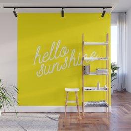 Hello Sunshine Script Wall Mural