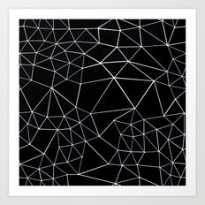 Segment Zoom Black and White Art Print