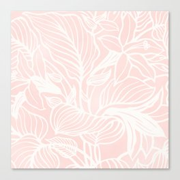 Pink Coral Floral Garden Canvas Print