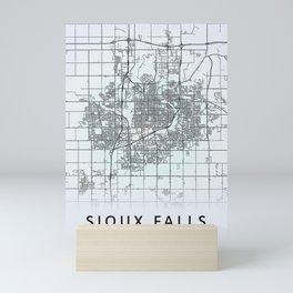 Sioux Falls SD USA White City Map Mini Art Print