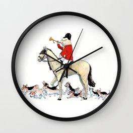 Tally-Ho! Wall Clock